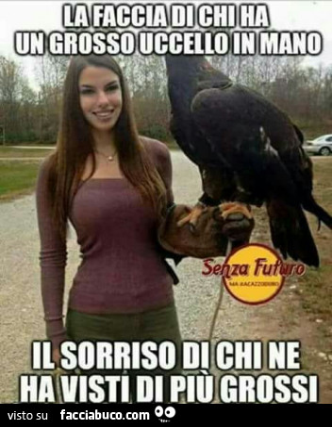 La faccia di chi ha un grosso uccello in mano il sorriso for La colazione ha il tuo sorriso